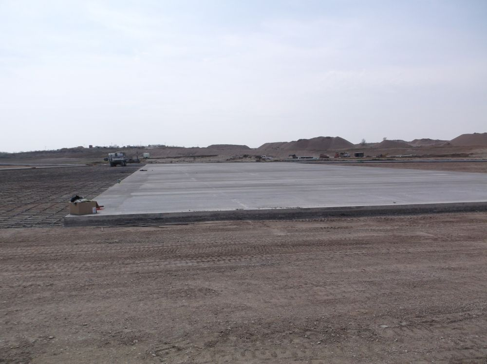 Ag Retail Center - Concrete poured